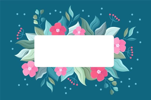 Winter bloemen met lege banner