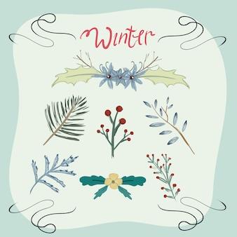 Winter bloemenelement