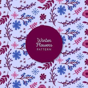 Winter bloemenpatroon