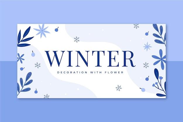 Winter blog koptekstsjabloon geïllustreerd