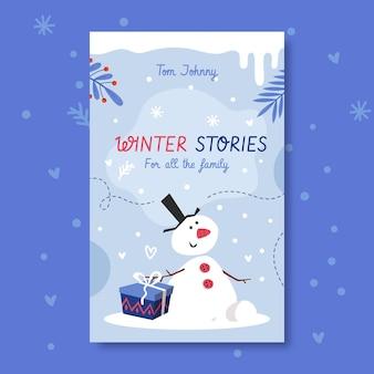 Winter boek voorbladsjabloon