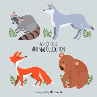 Winter bosdieren collectie