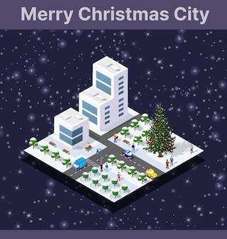 Winter christmas landschap sneeuw bedekt