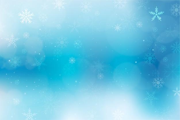 Winter concept met onscherpe achtergrond