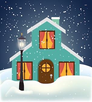 Winter en gebouwen