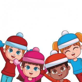 Winter en kinderen