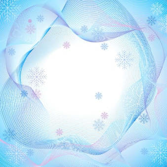 Winter fractals abstracte textuur achtergrond