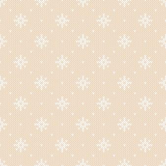 Winter gebreid patroon met sneeuwvlokken. fair isle breien trui design. naadloze kerstmis en nieuwjaar achtergrond
