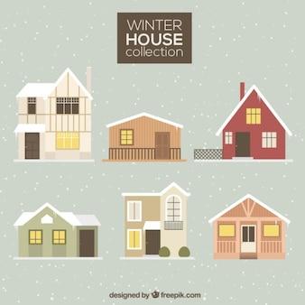 Winter huizen collectie