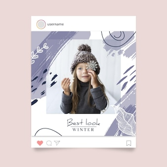 Winter instagram postsjabloon