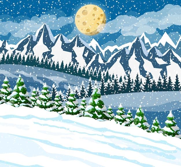 Winter kerst achtergrond illustratie
