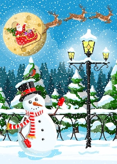 Winter kerst achtergrond