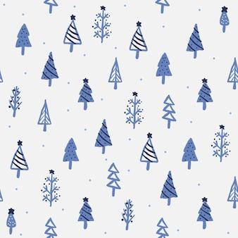 Winter kerst naadloze patroon