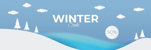Winter kerst verkoop banner
