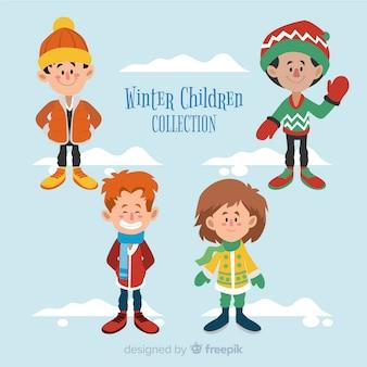 Winter kinderen collectie