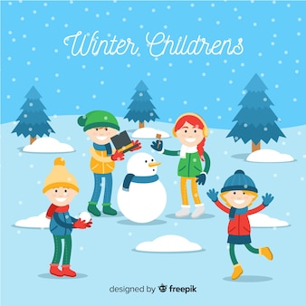 Winter kinderen collectie