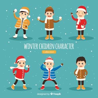 Winter kinderen karakter collectie