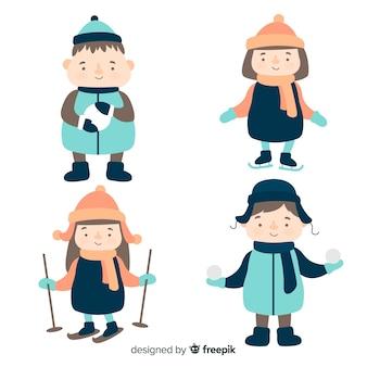 Winter kinderen pack