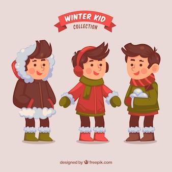 Winter kinderen