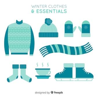 Winter kleding essentials achtergrond