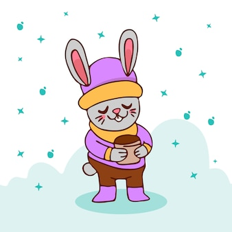 Winter konijn