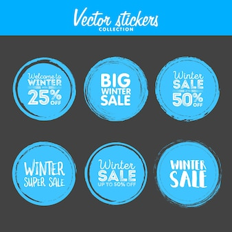 Winter korting. vector grunge cirkel. element voor uw ontwerp. rubber stempel textuur. nood grenskader.