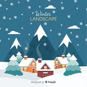 Winter landschap achtergrond