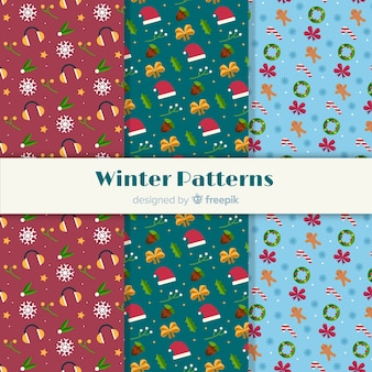 Winter patronen collectie