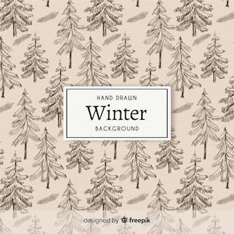 Winter patroon achtergrond