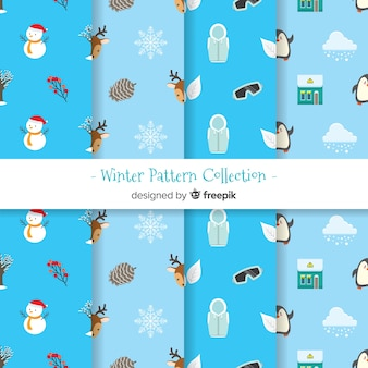 Winter patroon collectie