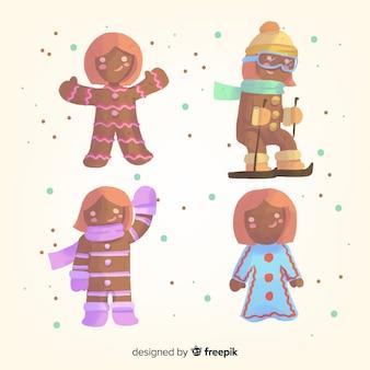 Winter peperkoek cookies collectie