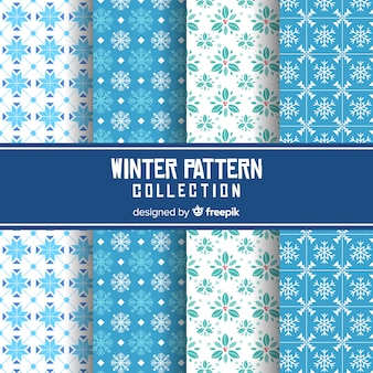 Winter plat patroon collectie