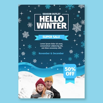 Winter poster a4 concept