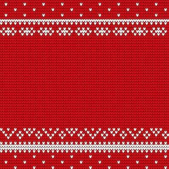Winter rode kaft met kerstversiering