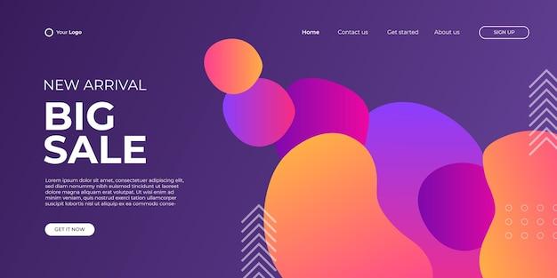 Winter sale - concept horizontale banner vectorillustratie. abstracte creatieve kortingslay-out. speciale aanbieding. grafisch ontwerp poster