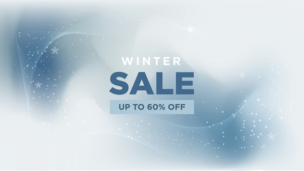 Winter sale met abstracte banner