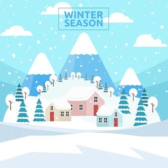 Winter seizoen achtergrond