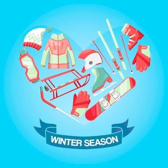 Winter seizoen illustratie