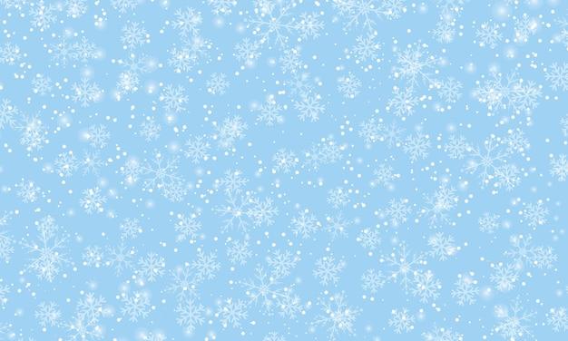 Winter sneeuw achtergrond. vector illustratie. sneeuwval hemel. kerstmis achtergrond. vallende sneeuw.