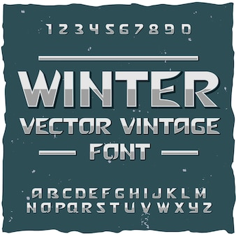 Winter sneeuw alfabet met bewerkbare tekst lettertype