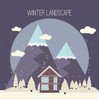 Winter sneeuw stedelijk platteland landschap stad dorp