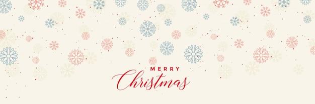 Winter sneeuwvlokken banner sjabloon voor vrolijk kerstfeest