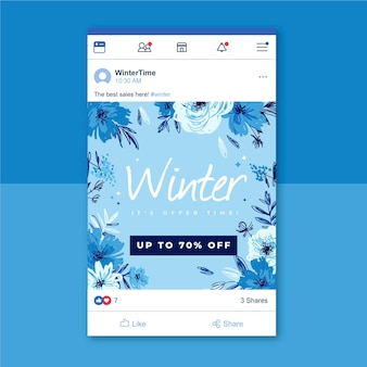 Winter social media post voor facebook