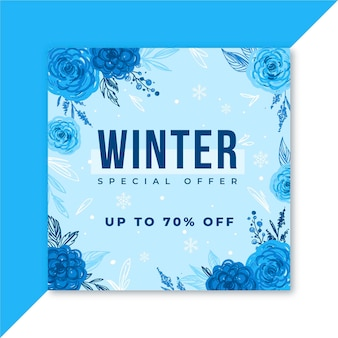 Winter social media post voor instagram