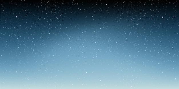 Winter ster in de nachtelijke hemelachtergrond sterrennacht met glanzende sterren in de kleurovergang hemel