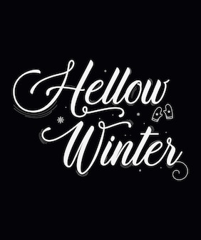 Winter t-shirt ontwerp