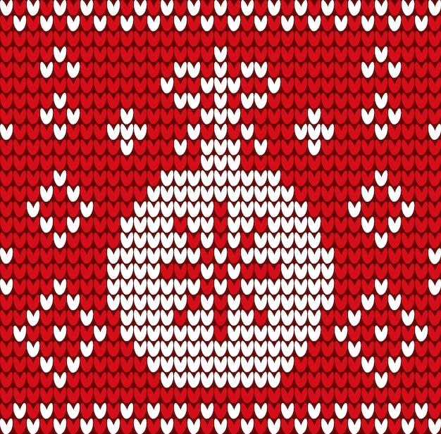 Winter textiel met xmas bal en sneeuwvlok vector