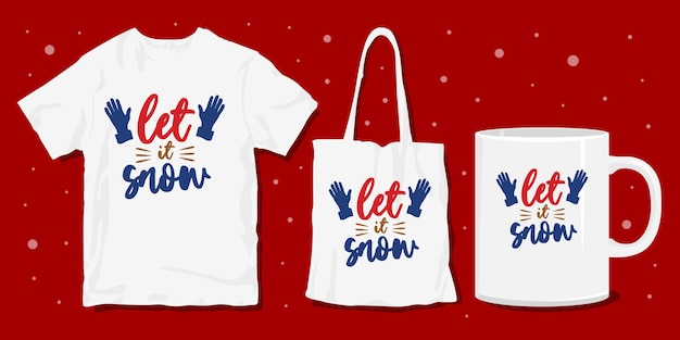 Winter typografie merchandise ontwerp