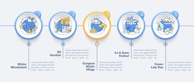 Winter uitje infographic sjabloon