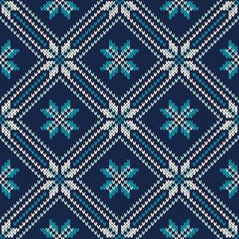 Winter vakantie naadloos gebreide patroon. abstracte trui